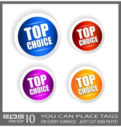 Top choice stickers vector