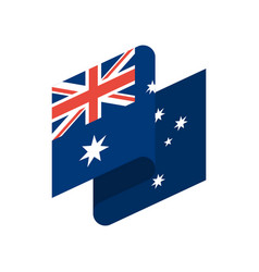 Australia flag ribbon isolated australian tape vector
