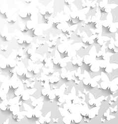 Background with white butterflies vector