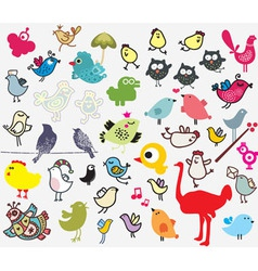 bird sketch collection vector image vector image