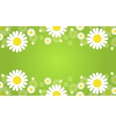 Collection of flower spring green background vector
