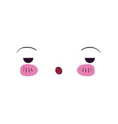 Colorful facial expression boring kawaii vector