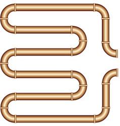 Copper pipe vector