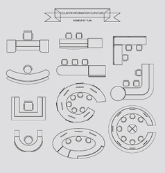 counter information outline icon vector image vector image
