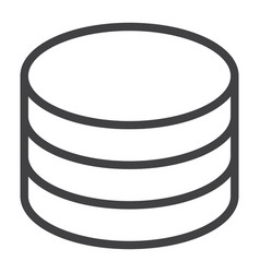 data storage line icon web and mobile database vector image