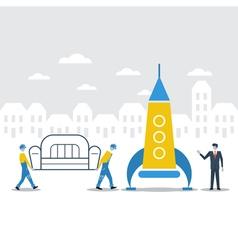 Delivery logistics company idea vector image vector image