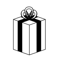 gift present isolated icon vector image