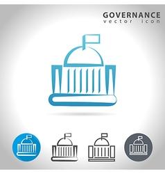 Governance blue icon vector
