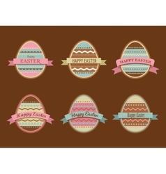 Happy easter - set of stylish eggs icons vector