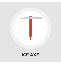 Ice axe flat icon vector image vector image