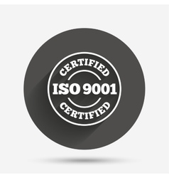 ISO 9001 certified sign Certification stamp vector image vector image