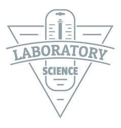 Laboratory logo simple gray style vector