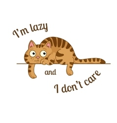 lazy cat vector image vector image