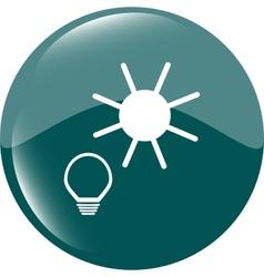 Light lamp and sun sign icon idea symbol light vector