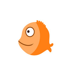 orange ocean fish cartoon vector image