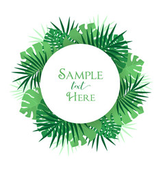 palm leaf decoration vector image vector image