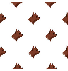 Pinscher dog pattern seamless vector