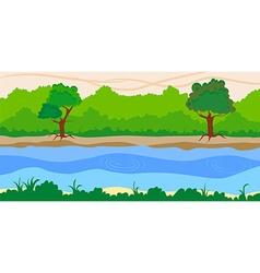 river side landscape background vector image vector image