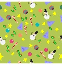 Seamless pattern with cute cartoon christmas vector