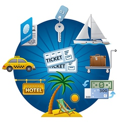 travel concept icon vector image