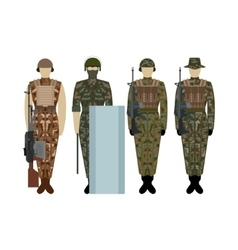 Uniforms of the British Army since 2000-1 vector image