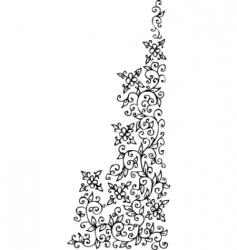 vintage floral vignette vector image vector image