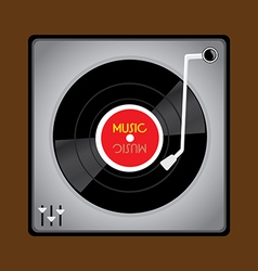 Vinyl record player vector