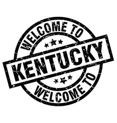 Welcome to kentucky black stamp vector