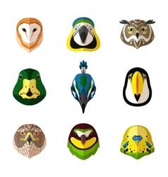 Wild bird set vector