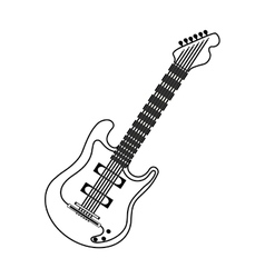 Electric guitar music instrument vector