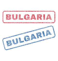 Bulgaria textile stamps vector