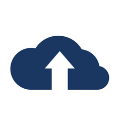 cloud with upload arrow icon vector image