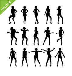 Sexy women adn dancing silhouettes vector