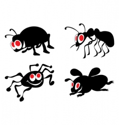ridiculous insects vector image