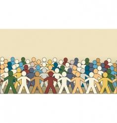 paper chain men vector image
