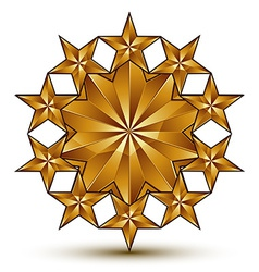 Geometric classic rounded golden element isolated vector