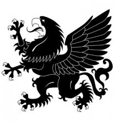 standing heraldic griffin vector image