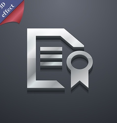 Award file document icon symbol 3d style trendy vector