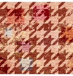 Houndstooth pattern on abstract retro background vector