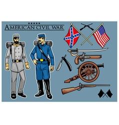 american civil war set vector image