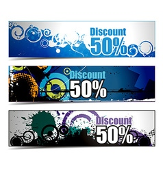 Abstract discount banners vector