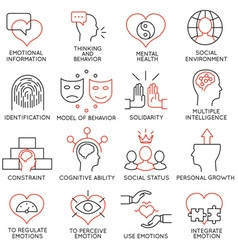 Set of icons related to business management - 19 vector