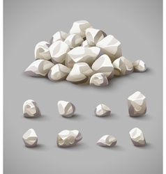Set of rocks and stone pile vector image