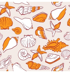 Sea seamless pattern vector