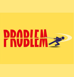 Abstract design business problem solving vector