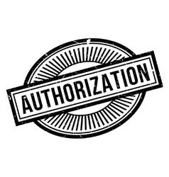 Authorization rubber stamp vector