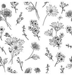 Beautiful vintage seamless pattern vector image