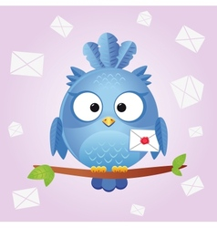 Bird letter vector