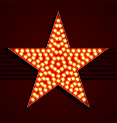 Broadway style light bulb star shape vector
