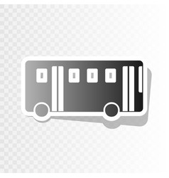 Bus simple sign new year blackish icon on vector